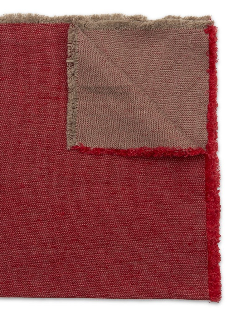 Washed Fringe Napkin Holiday Red