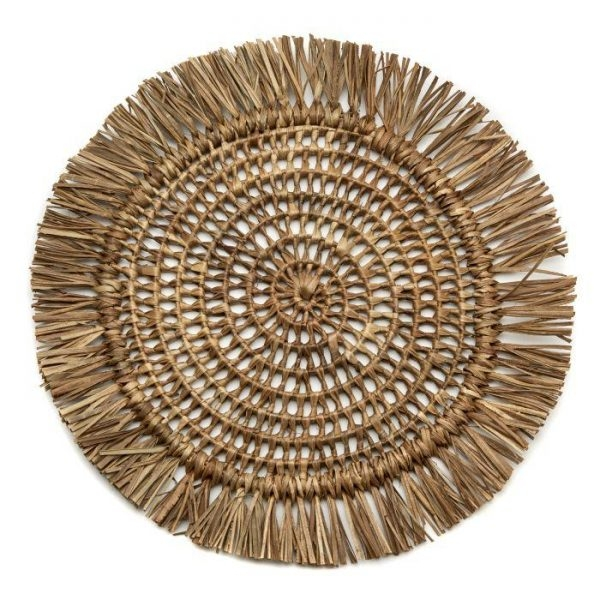 Fringed Raffia placemat