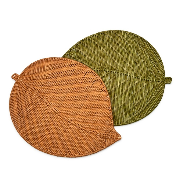 Wicker Leaf placemats